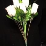 Baltų rožyčių puokštė 0.6€